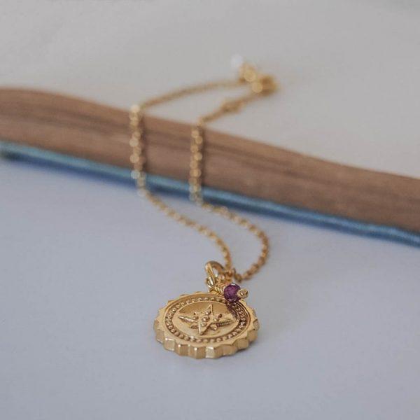 Compass with Garnet Bracelet