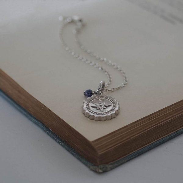Compass with Lapis Lazuli Bracelet