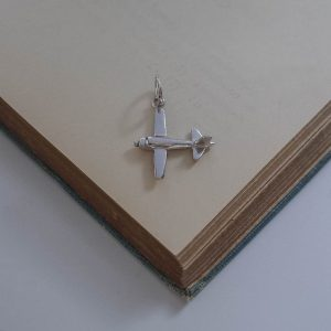 Airplane Charm in Sterling Silver by Bianca Jones Jewellery