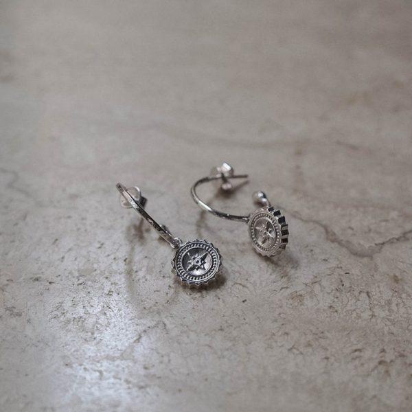 Compass Hoop Earrings