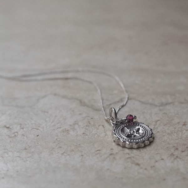 Compass Midi Garnet Necklace