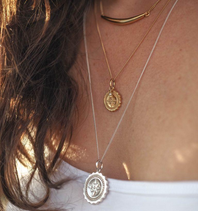 Compass Midi Pearl Necklace