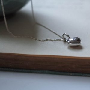 Heart Necklace Silver, Bianca Jones Jewellery