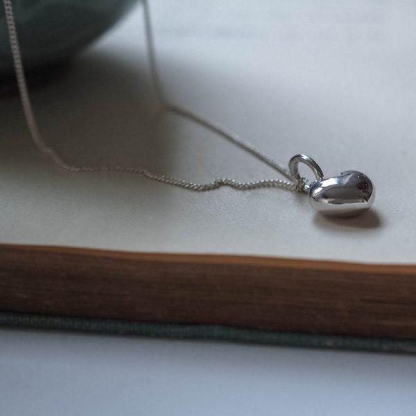 Heart Necklace Silver, Bianca Jones Jewellery