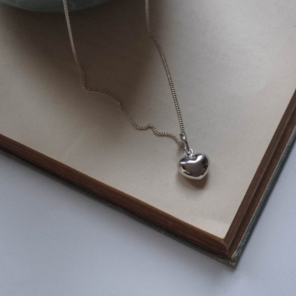 Heart Necklace Silver