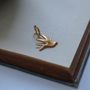 Swallow Charm Gold Vermeil