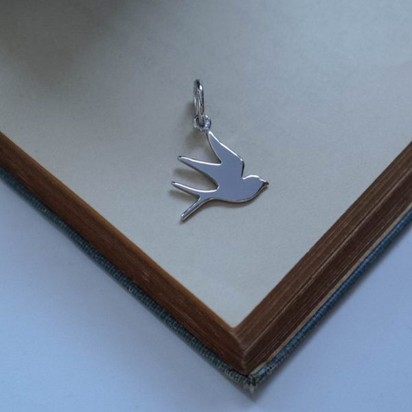 Swallow Charm Silver