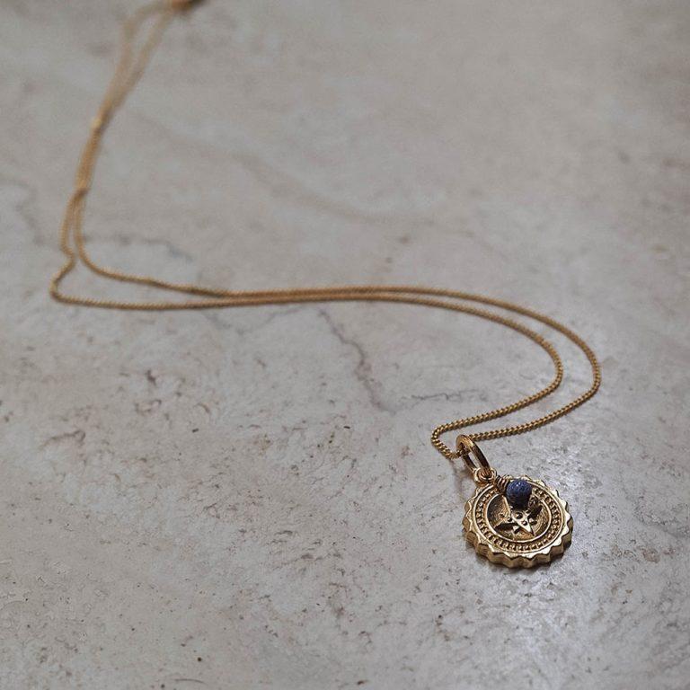 Compass Midi Necklace with Lapis Lazuli