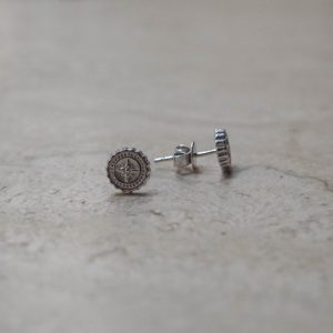 compass stud earrings
