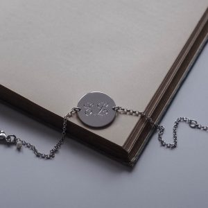 Double Initial Bracelet in Sterling Silver by Bianca Jones