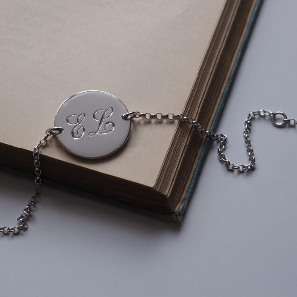Double Initial Bracelet in Sterling Silver by Bianca Jones