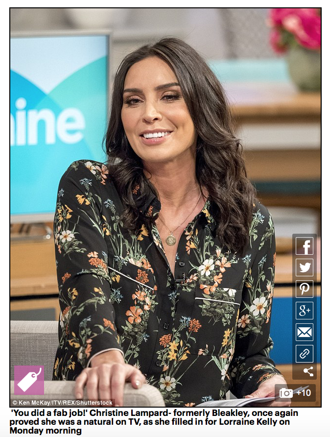 Christine Lampard Initial Necklace Daily Mail