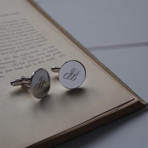 Double Initial Cufflinks in Sterling Silver