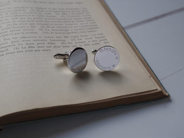 Latitude and Longitude + Date Cufflinks