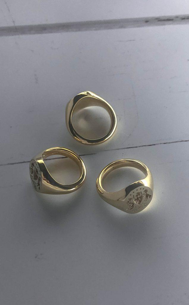 Coat of arms signet ring by Bianca Jones Jewellery