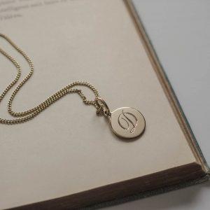 Initial Mini Gold Necklace Bianca Jones