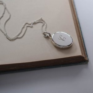 Initial Locket Necklace in Sterling Silver made by Bianca Jones Jewellery