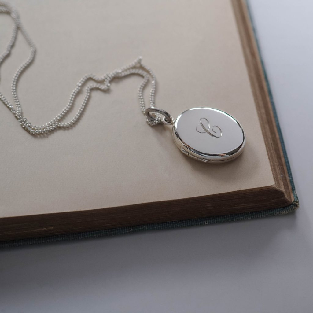 ed9cdff897 Initial Locket Necklace in Sterling Silver made by Bianca Jones Jewellery