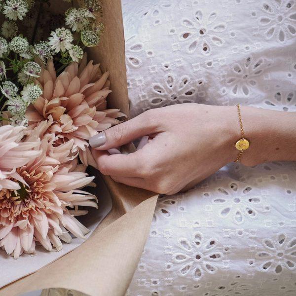 Initial Mini Bracelet in Gold Vermeil
