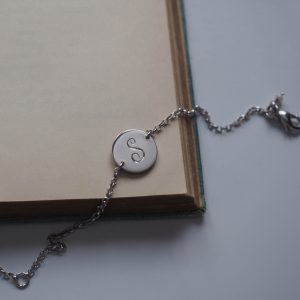 Initial Mini Bracelet in Sterling Silver