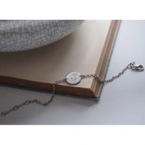 Initial Mini Bracelet in Sterling Silver