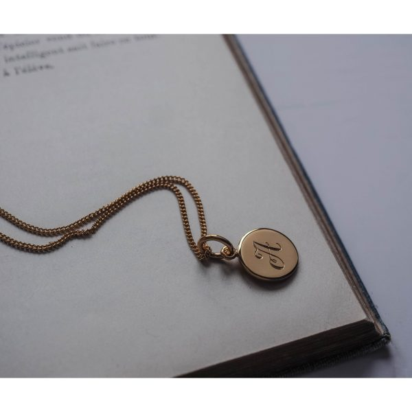 Initial Mini Necklace in Gold Vermeil