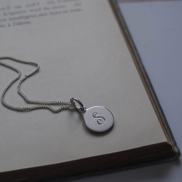 Initial Mini Necklace in Sterling Silver