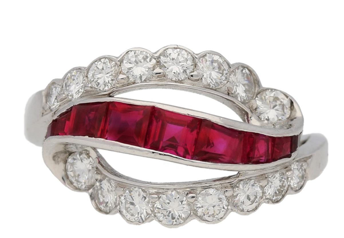 Oscar Heyman Brothers ruby and diamond ring, American, circa 1950